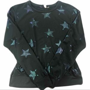 ASOS Black Star Sweatshirt Size 8 Fall Streetwear
